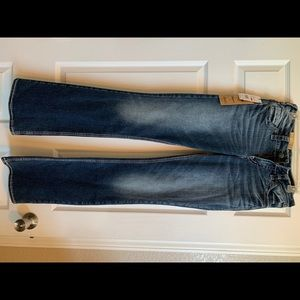NWT Silver Suki Mid Boot Jeans
